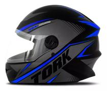 Capacete moto fechado r8 azul pro tork - Protork
