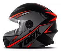 Capacete moto fechado r8 vermelho pro tork -
