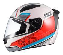 Capacete Moto Fechado Sky Esportivo Two Anos 90 Motoqueiro -