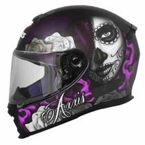 Capacete moto feminino axxis eagle lady catrina violeta fosco -
