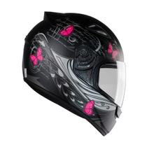 Capacete Moto Feminino Ebf New Spark Borboleta Fechado - Ebf Capacetes