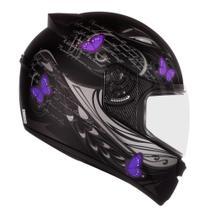 Capacete Moto Feminino Ebf New Spark Borboleta Fechado Tam: 58 - Ebf Capacetes -