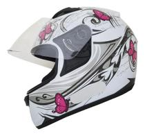 Capacete Moto Feminino Ebf  Spark New Borboleta + Nf -