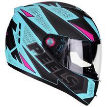 Capacete Moto Feminino Peels Icon Fast Verde Agua Fosco -