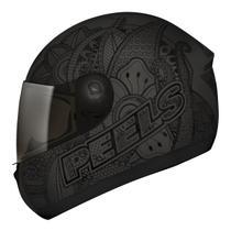 Capacete Moto Feminino Peels Spike Indie Preto Chumbo Fosco -