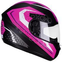 Capacete Moto Feminino Peels Spike Prisma Preto Fosco Rosa -