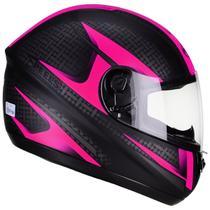 Capacete Moto Feminino Peels Spike Storm Preto Fosco Rosa -