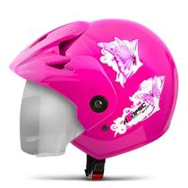 Capacete Moto Feminino Pro Tork Atomic For Girls Viseira Cromada -