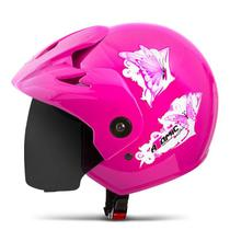 Capacete Moto Feminino Pro Tork Atomic For Girls Viseira Fumê -