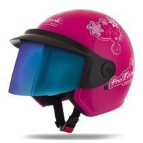 Capacete Moto Feminino Pro Tork Liberty 3 For Girls Viseira Camaleão -
