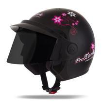 Capacete Moto Feminino Pro Tork Liberty 3 For Girls Viseira Fumê -