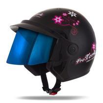 Capacete Moto Feminino Pro Tork Liberty 3 For Girls Viseira Iridium -