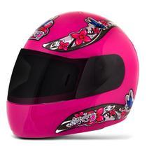 Capacete Moto Feminino Pro Tork Liberty 4 Girls Viseira Fumê -