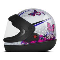 Capacete Moto Feminino Pro Tork Super Sport Moto Butterfly Brilhante -