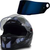 Capacete Moto Fw3 Gt Femme Preto Lilas 56 + Viseira Camaleão -