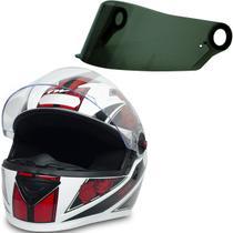 Capacete Moto Gt Femme Branco Vermelho Tam 56 + Viseira Fumê - Fw3