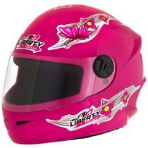 Capacete Moto Infantil Pro Tork Liberty 4 Kids Girls 54 Rosa -