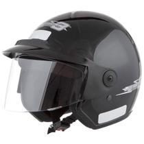 Capacete Moto Liberty Three Pro Tork Tamanho 58 Fechado Preto -