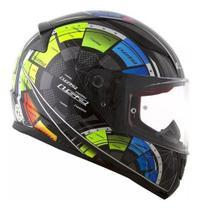 Capacete Moto Ls2 Ff353 Rapid Techs Black Preto Original -
