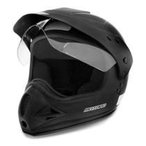Capacete Moto Motocross Fechado Com Viseira Ebf Motard Solid - Ebf Capacetes