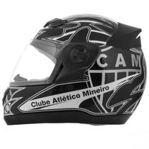 Capacete Moto Oficial Do Galo Atletico Mineiro Pro Tork -