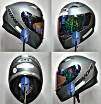Capacete Moto Original Helt/Yohe Blade Street Polar Titanium 58 + Viseira Camaleao -