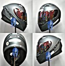 Capacete Moto Original Helt/Yohe Blade Street Polar Titanium 58 + Viseira Prata -