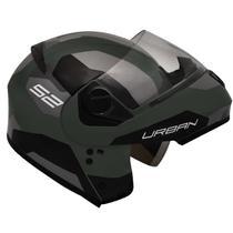 Capacete Moto Peels Articulado Robocop Escamoteável Urban Sync 2 Verde Militar Fosco -
