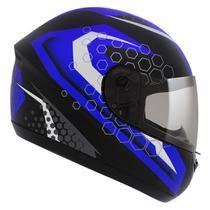 Capacete Moto Peels Fechado Spike Prisma Preto Fosco Azul -