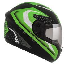 Capacete Moto Peels Fechado Spike Prisma Preto Fosco Verde -