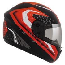 Capacete Moto Peels Fechado Spike Prisma Preto Fosco Vermelho -