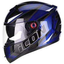 Capacete Moto Peels Icon Fast Azul Perolado Brilhante Com Viseira Solar -