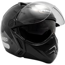 Capacete Moto Peels Mirage New Classic Preto Brilhante Com Óculos Solar -