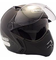 Capacete Moto Peels Mirage New Classic Preto Fosco Com Viseira Solar Interna -