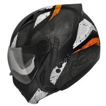 Capacete Moto Peels Mirage Revo Preto Fosco Laranja Com Óculos Interno -