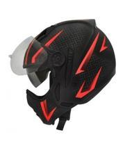 Capacete Moto Peels Mirage Storm Vermelho Com Óculos -
