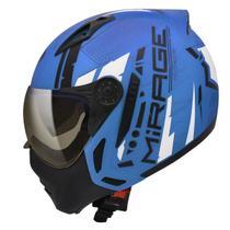 Capacete Moto Peels Mirage Techride Azul Fosco Com Viseira Interna -