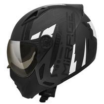 Capacete Moto Peels Mirage Techride Preto Chumbo Fosco Com Óculos Solar -