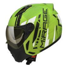 Capacete Moto Peels Mirage Techride Verde Citrus Preto Com Óculos Solar -