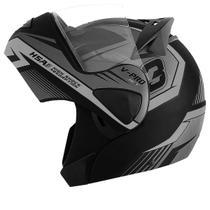 Capacete Moto Pro Tork Articulado Escamoteável V-pro Jet 3 Preto Fosco Cinza -