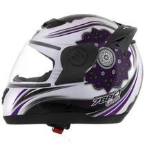 Capacete Moto Pro Tork Evolution 788 Femme Branco/Rosa -