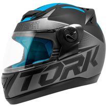 Capacete Moto Pro Tork Evolution G7 Preto Fosco Azul -