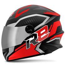Capacete Moto Pro Tork R8 Air Fosco Viseira Cromada -
