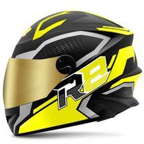 Capacete Moto Pro Tork  R8 Air Fosco Viseira Dourada -
