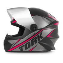 Capacete Moto Pro Tork R8 Narigueira + Viseira Cromadaaaa -