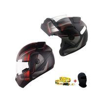 Capacete Moto Robocop Articulado Ebf New E08 Drift Vermelho -