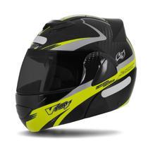 Capacete Moto Robocop Pro Tork V-Pro Jet 2 Carbon Preto Viseira Fumê -