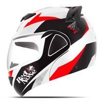 Capacete Moto Robocop Pro Tork V-Pro Jet Red Nose -