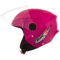 Capacete Moto Rosa New Liberty Three 58 - Pro tork -