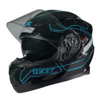 Capacete Moto Texx G2 Panther Dupla Viseira AZUL -